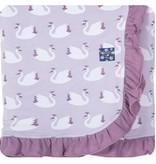 Kickee Pants Print Ruffle Stroller Blanket Thistle Swan Princess
