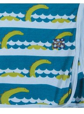 Kickee Pants Swaddling Blanket Sea Monster