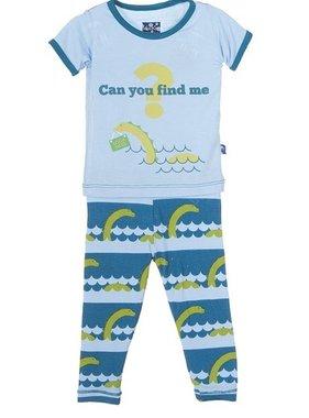 Kickee Pants KICKEE-Print S/S Pajama Set Sea Monster