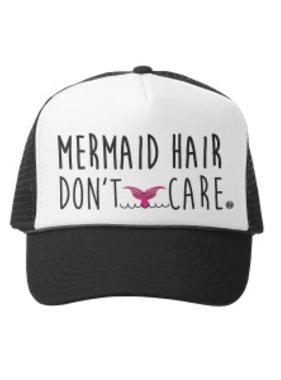 Grom Squad Trucker Hat Mermaid Hair Don't Care BIG 18mo.-4yr Blk 132
