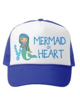 Grom Squad 506 Trucker Hat Mermaid at Heart MINI Roy/Wht