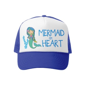 Grom Squad 506 Trucker Hat Mermaid at Heart MINI Roy/Wht