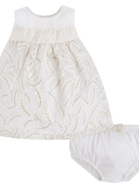 Mayoral Organdy Emb Dress, Linen 1836-51