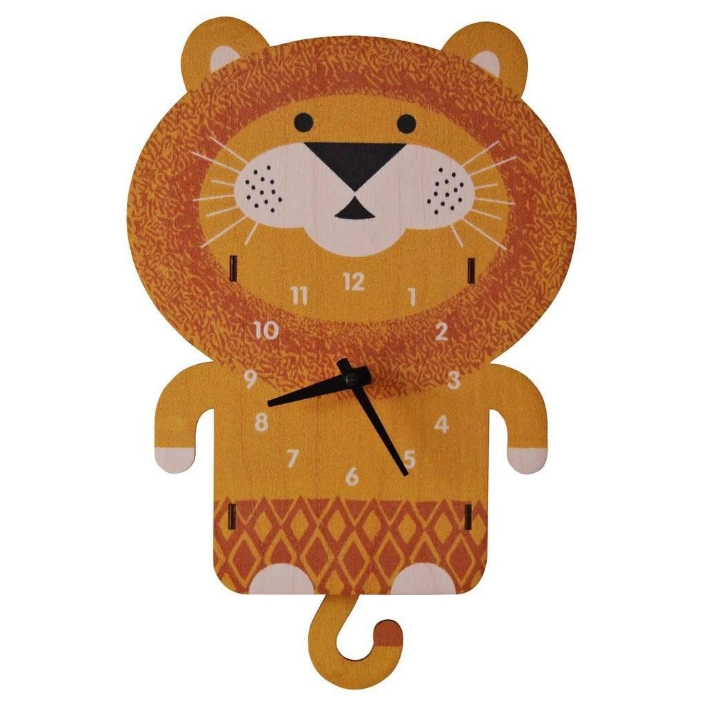 Modern Moose Lion Pendulum Clock PCPEN017