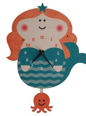 Modern Moose Mermaid Pendulum Clock PCPEN042