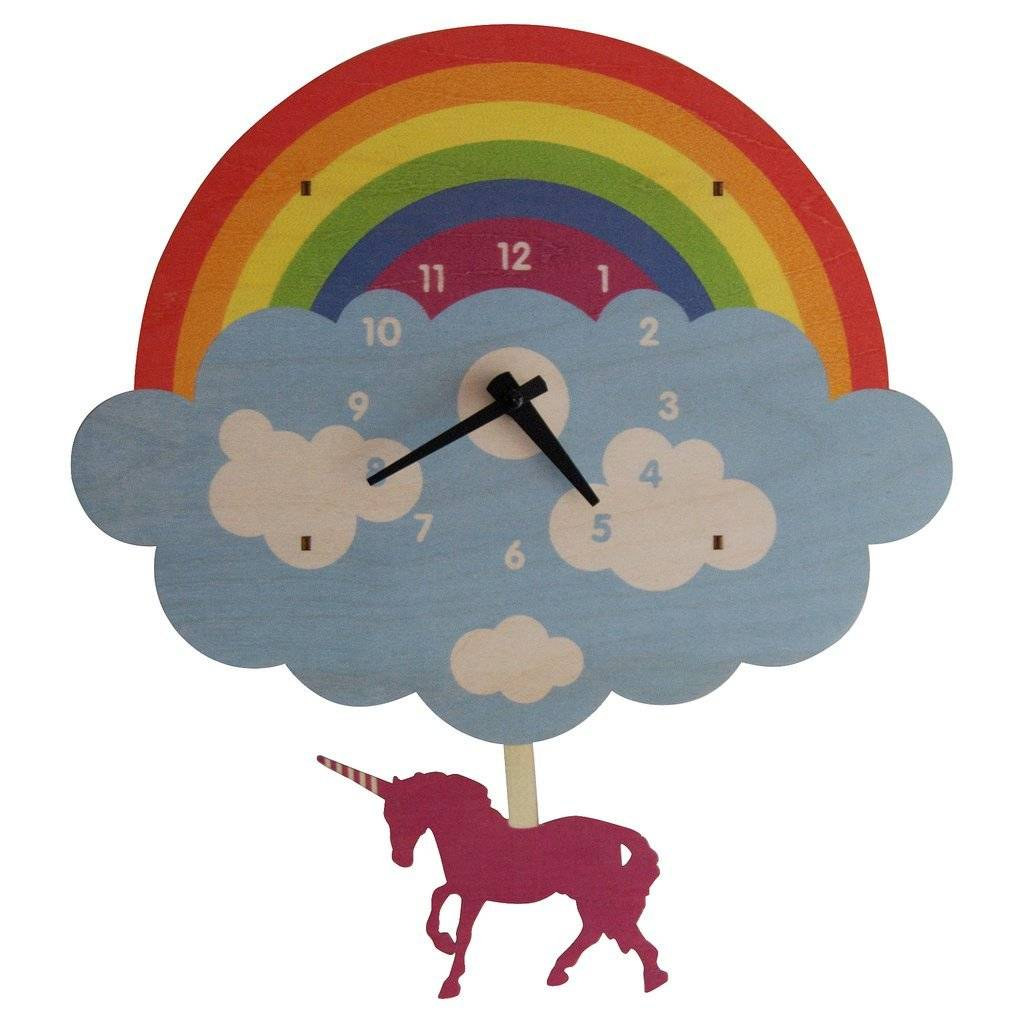 Modern Moose Unicorn Pendulum Clock 1579