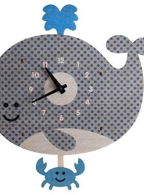 Modern Moose Whale Pendulum Clock 1524