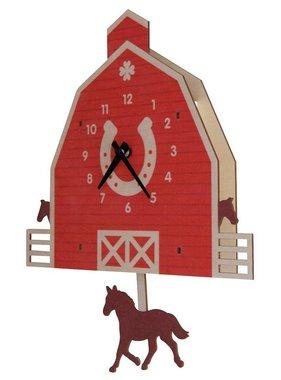 Modern Moose Horse Barn Pendulum Clock 1575