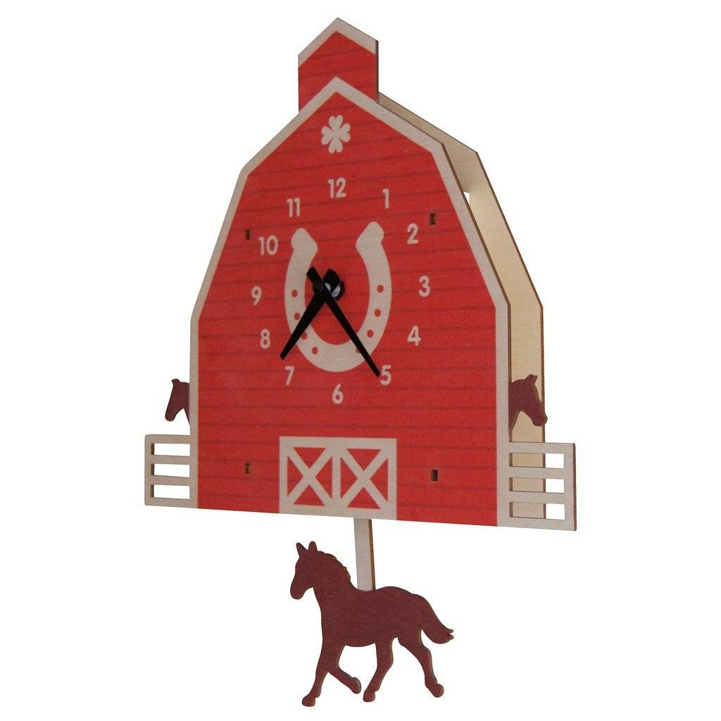 Modern Moose Horse Pendulum Clock 1575