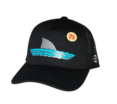 Grom Squad 203 Sharky Trucker Hat Blk/Blk BIG 18mo.-5 years