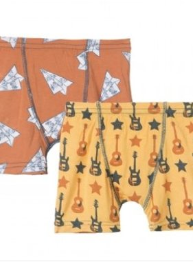 Kickee Pants Boxer Briefs Fuzzy Bee Guitars/Copper AIr