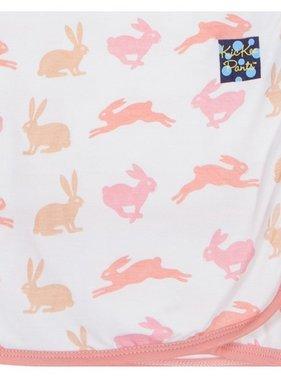 Kickee Pants Print Ruffle Stroller Blanket Girl Natural Hare