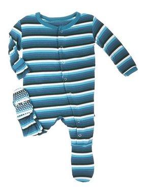 Kickee Pants Print Footie Boy Forest Stripe