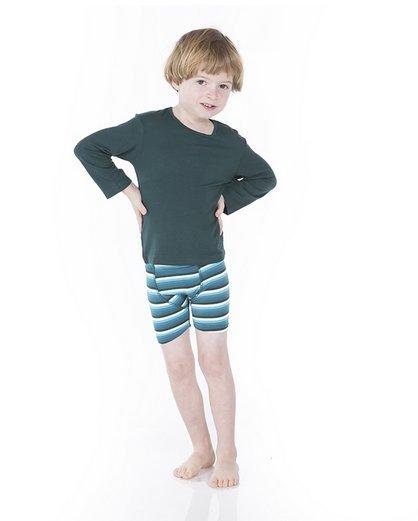Kickee Pants Boxer Briefs Boy Forest Stripe/Cedar Bear