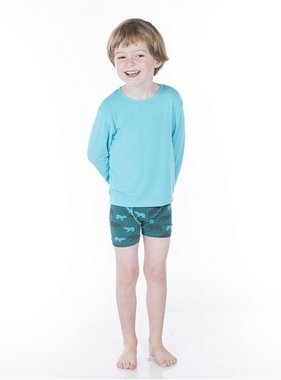 Kickee Pants Boxer Briefs Boy Forest Stripe/Cedar Bear