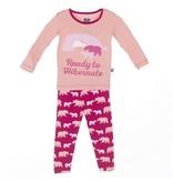 Kickee Pants L/S Pajama-Rhod Bear