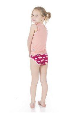 Kickee Pants Girl Underwear Forest Stripe/Bear