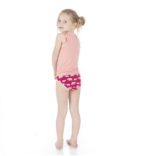 Kickee Pants Girl Underwear Forest Stripe/Bear - Bella Beach KIds