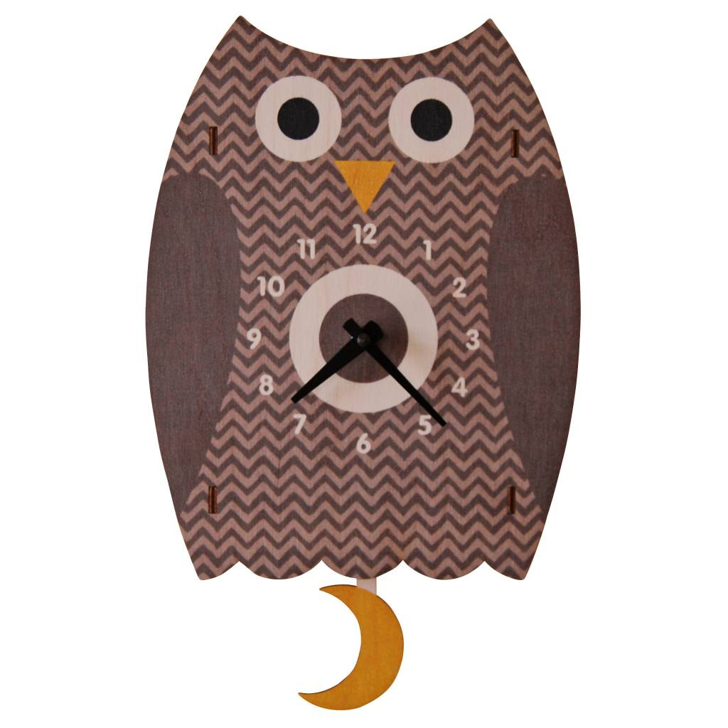 Modern Moose Owl Pendulum Clock