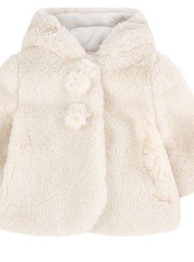 Mayoral 2482 088 Beige Faux fur pullover