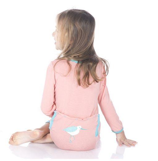 Kickee Pants App Coverall, Blush Sandpiper