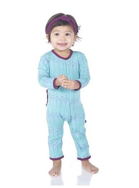 Kickee Pants Print Coverall Glacier Frosted BIrch