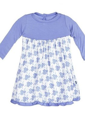 Kickee Pants Print LS Flower Dress, Forget Me Not Floral