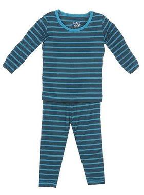 Kickee Pants Print LS PJ Set, Boy Tundra Stripe