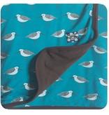 Kickee Pants Print Stroller Blanket, Bay Sandpiper