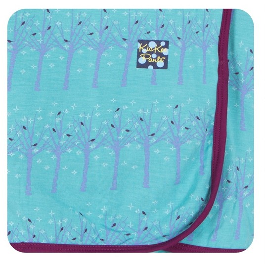 Kickee Pants Print Blanket, Glacier Frosted Birch