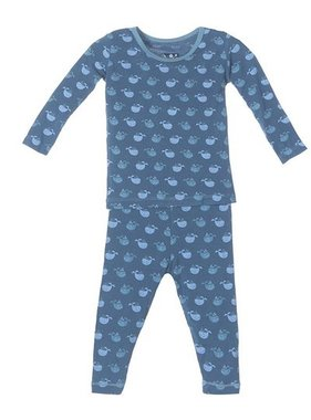 Kickee Pants Print Long Sleeve Pajama Set-Tiny Whale