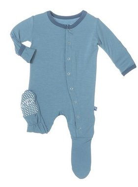 Kickee Pants Solid Footie-Blue Moon Twilight