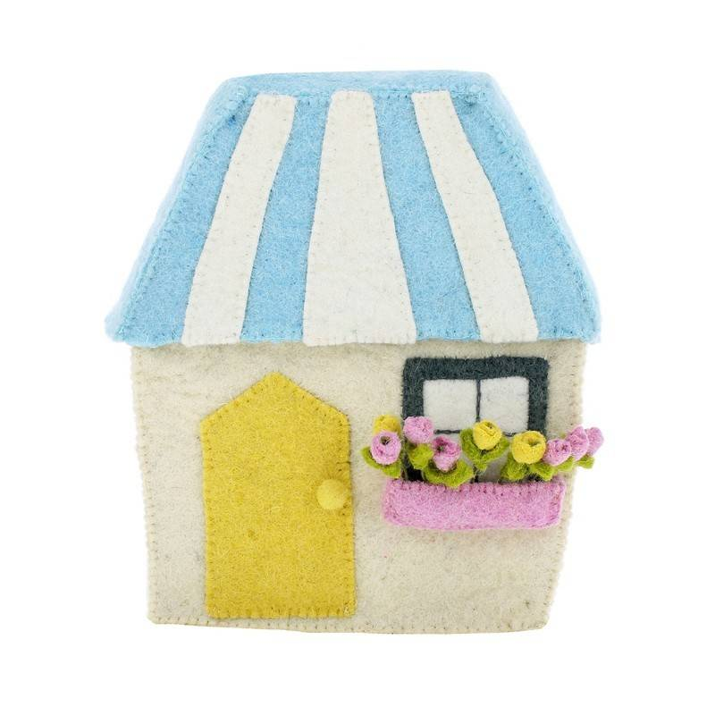 Fiona Walker CREAM HOUSE WITH STRIPE ROOF - 827048