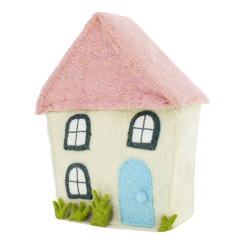 Fiona Walker CREAM HOUSE WITH PINK ROOF - 827051