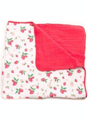 Little Unicorn UB0211 Cotton Muslin Quilt Strawberry