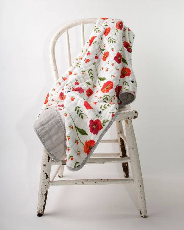 Little Unicorn UB0203 Cotton Muslin Quilt Summer Poppy