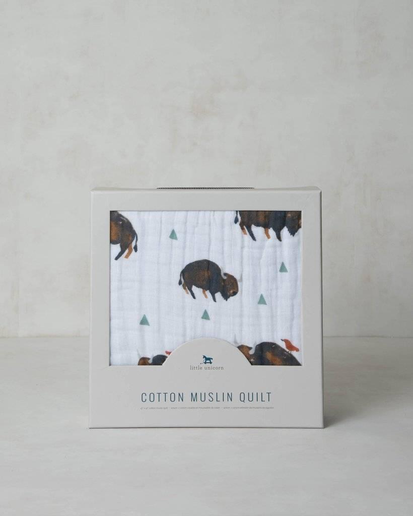 Little Unicorn UB0215 Cotton Muslin Quilt - Bison