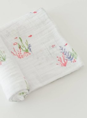 Little Unicorn UB01-49 Cotton Muslin Swaddle Single - Sea Floor