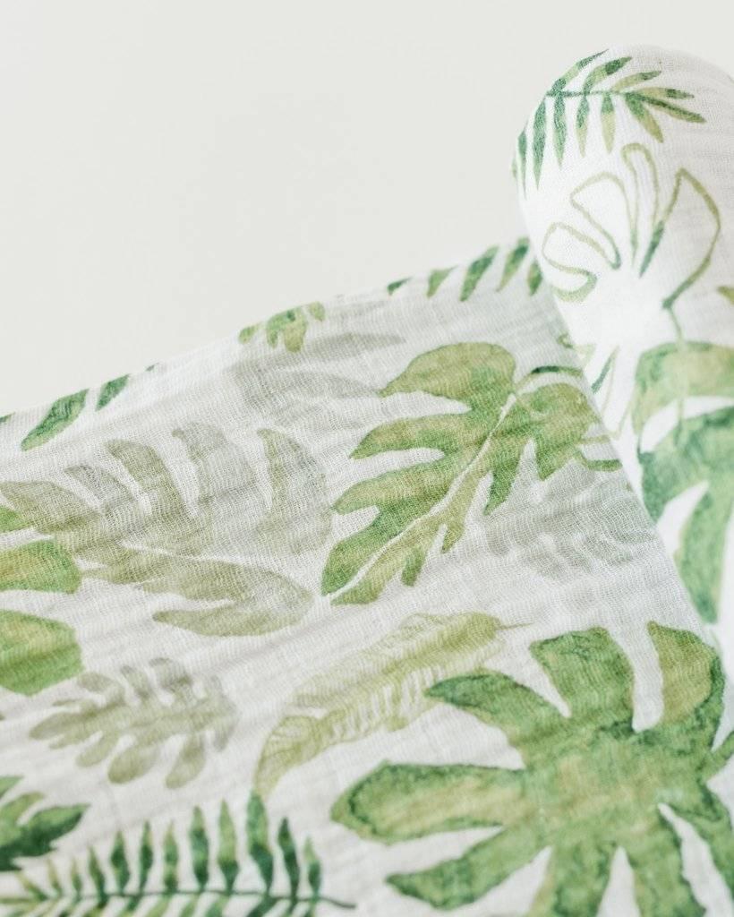Little Unicorn UB0152 Cotton Muslin Swaddle Single - Tropical Leaf