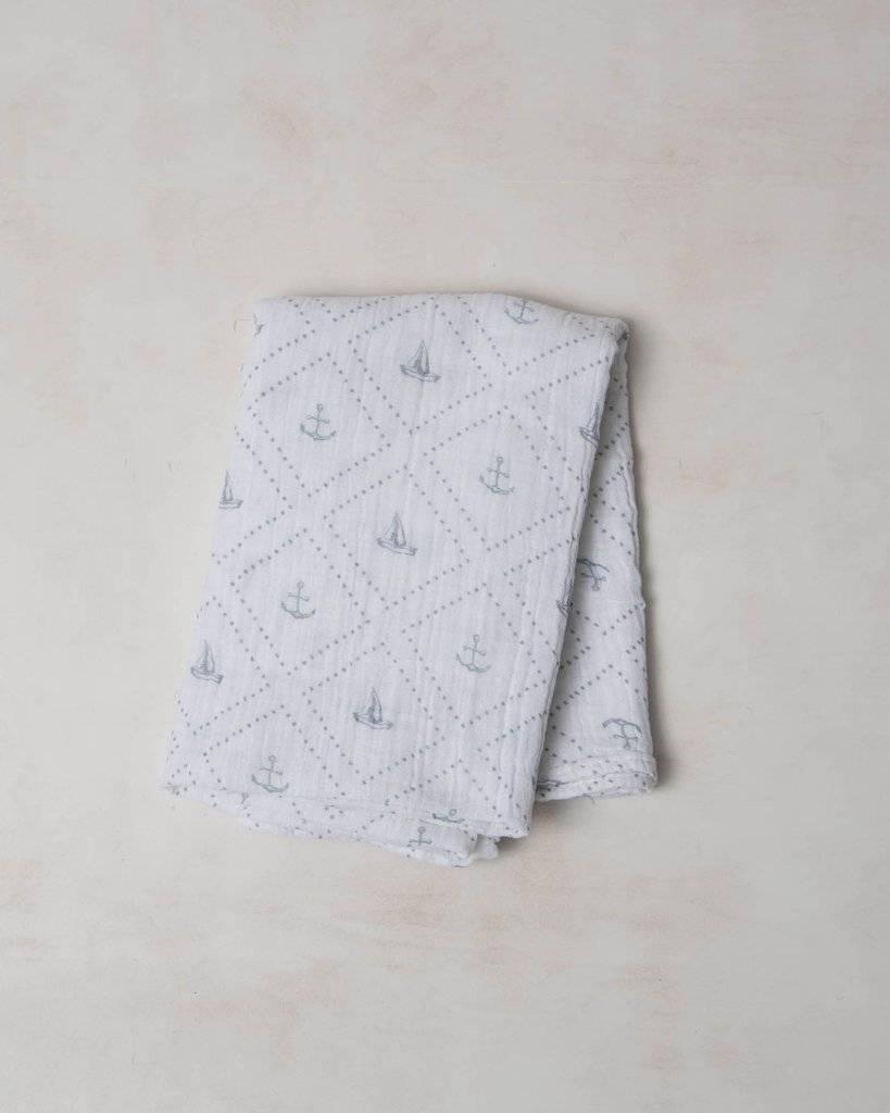 Little Unicorn UB0101 Cotton Muslin Swaddle Single - Anchors Aweigh