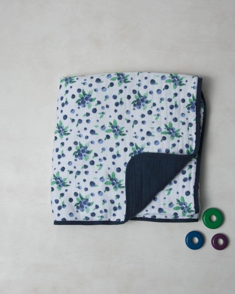 Little Unicorn UB0220 Cotton Muslin Quilt - Blueberry