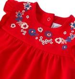 Petite Bateau 22082 Festina Floral Detail Dress Red