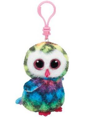 Ty 35025 OWEN  multicolor owl clip