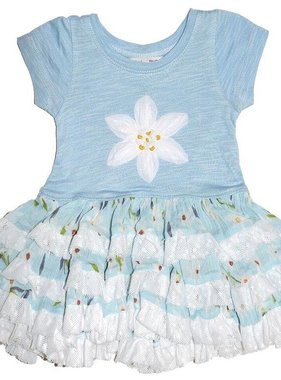 Mimi & Maggie 80090 Ruffles & Daisies Dress, Aqua