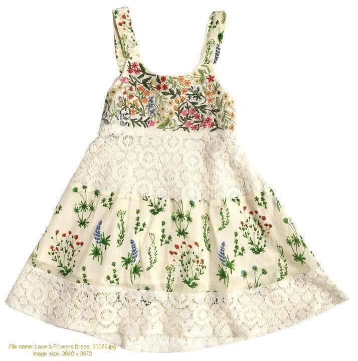Mimi & Maggie 80078-MLT Lace & Flower Dress