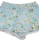 Mimi & Maggie 2330/6666 Picking Daisies Short/Tank Set, Aqua