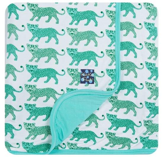 Kickee Pants Print Stroller Blanket Nat Leopard