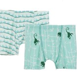 Kickee Pants Boxer Briefs Set of 2 Aloe Ants/Glass Forest Monkey