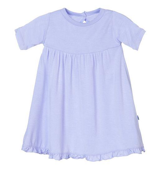 Kickee Pants S/S Swing Dress Keyhole/Button Lilac