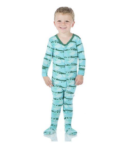 Kickee Pants Print Footie Confetti Sloth